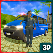 Police Van City Driver:Police Vs Gangster