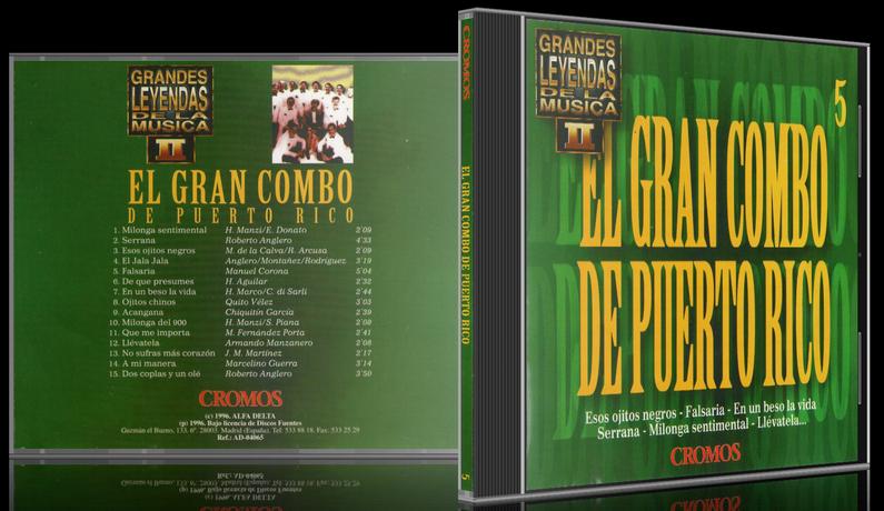 El Gran Combo De Puerto Rico - Grandes Leyendas De La Música II (1996) [MP3 @320 Kbps]