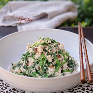 Watercress Tofu Salad.