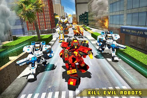 Rhino Robot Car transforming games u2013 City battle filehippodl screenshot 5