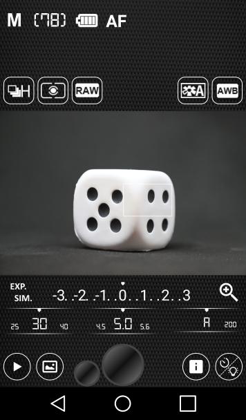 Camera Pro Control Android App Screenshot