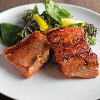 Simple Pan Seared Salmon.