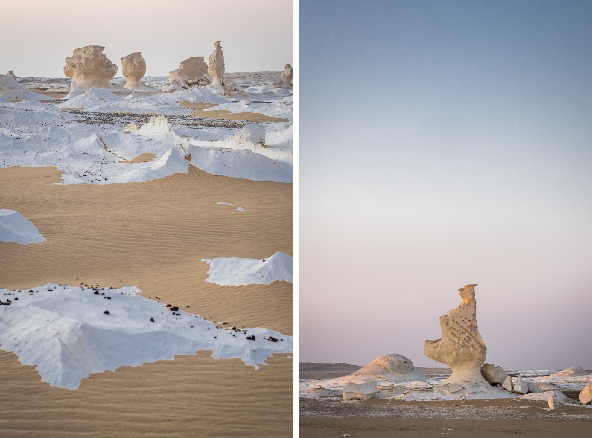 Wind and sand carved these formations out of soft chalk deposit