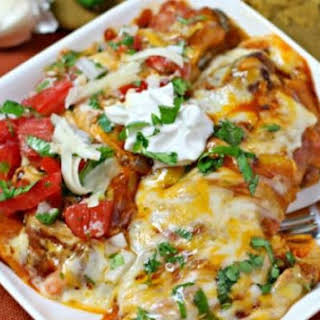 Cheesy Adobo Enchiladas.