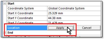 ANSYS Завершение задания начальной точки, расположенной в узле сетки