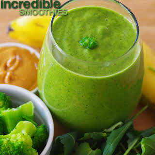 Banana-Peanut Butter Green Smoothie Recipe with Broccoli.