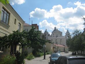 Photo: Wyłania się barokowy kościół św. Piotra i Pawła (pocz. XVII w.)