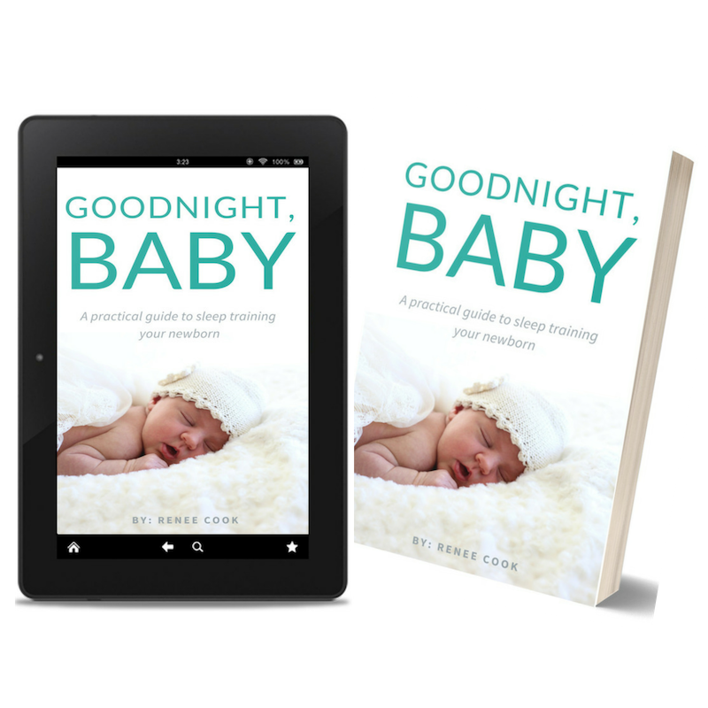 goodnight baby sleep training book freebie