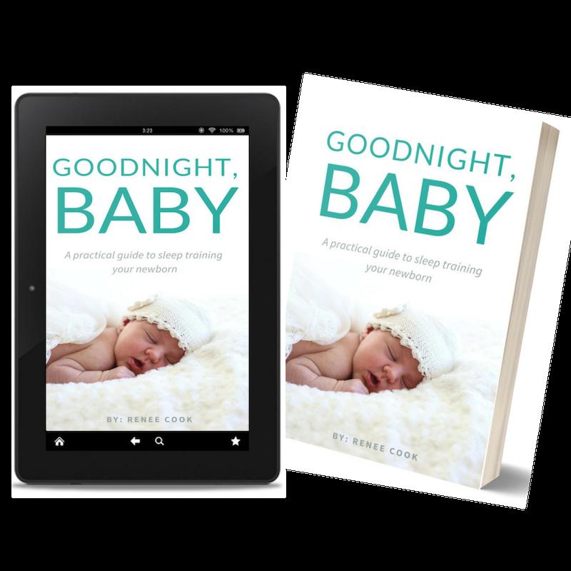 goodnight baby sleep training book freebie
