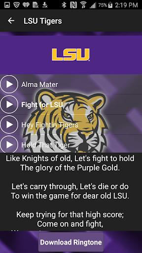 LSU Tigers Ringtone Fightsongs screenshot