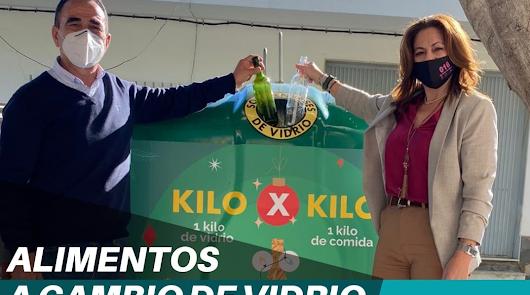 La Mojonera se une a la campaña 'Kilo x Kilo' para cambiar vidrio por alimentos