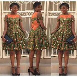 Kitenge Fashion Short Dresses - náhled