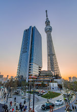 Photo: The Tokyo Sky Tree and shops in Tokyo, Japan