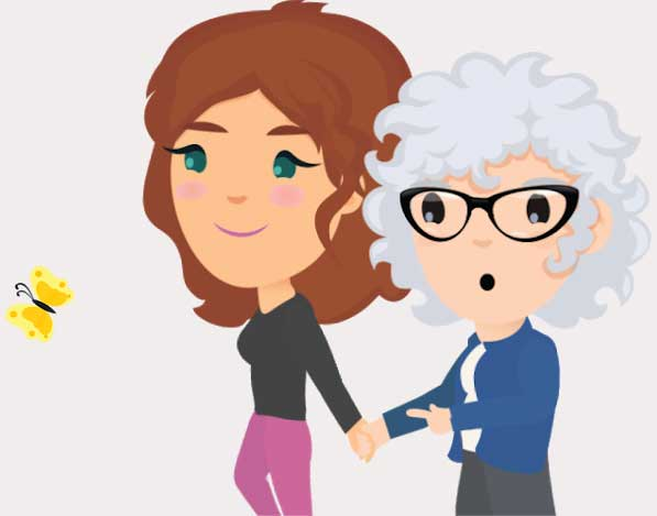 Cartoon Characters from Videos About Dementia