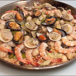 Paella With Seafood & Snails