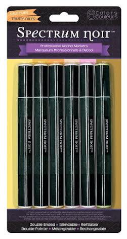 Spectrum Noir Generation 2, 6 Pen Set by Crafters Companion - Pale Hues UTG