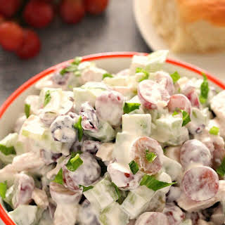 Easy Chicken Salad with Grapes.