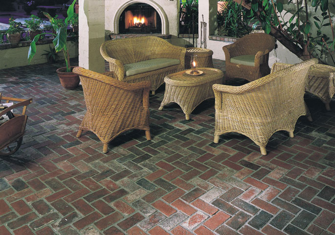 Photo: Rustic Used Brick is suited for many different types of landscape applications, such as pedestrian walkways, vehicle driveway accesses within residential, commercial and municipal construction projects. It has a realistic appearance and the molds are made directly from actual used brick.