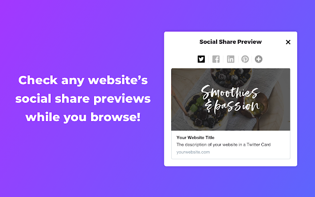 Social Share Preview