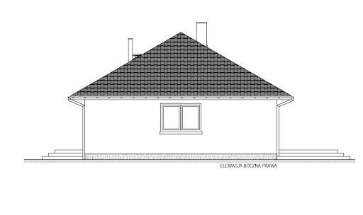 Domek Mokka 053 ES - Elewacja prawa