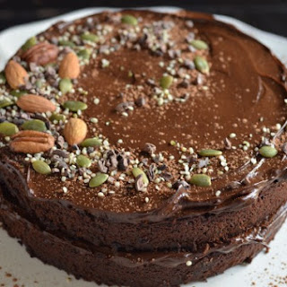 Fudgy Chocolate Beet Cake with Chocolate Avocado Frosting