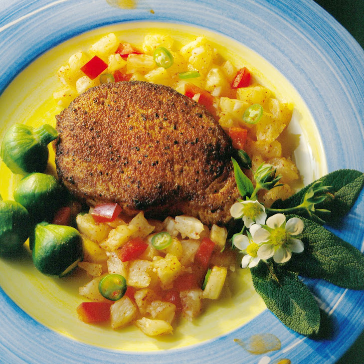 Blackened Chops with Pineapple Salsa Recipe