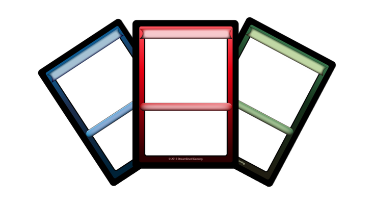 Blue Red and Green card art templates for board game designers to use in their games