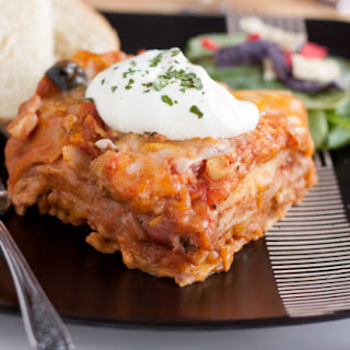 Easy Mexican Lasagna.