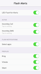 Flash Alerts on Call and SMS Screenshot