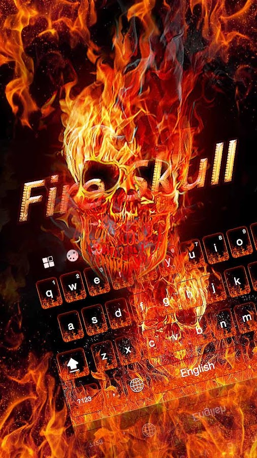 Fire Skull Keyboard Theme- screenshot