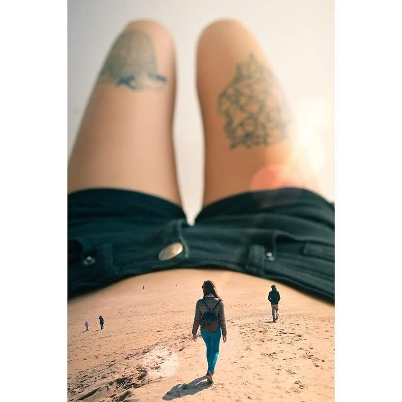 Monica Carvalho y sus montajes de fotos surrealistas