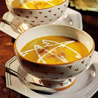 Curried Butternut-Shrimp Bisque.