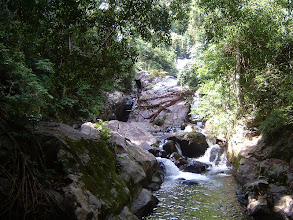 Photo: The lower levels of the waterfall stream