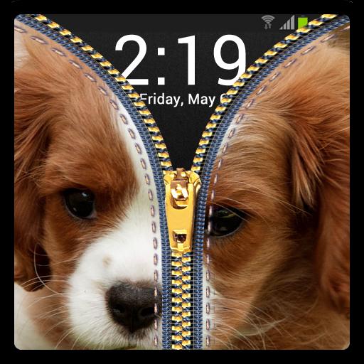 Zipper Lock Screen Puppy 休閒 App LOGO-硬是要APP