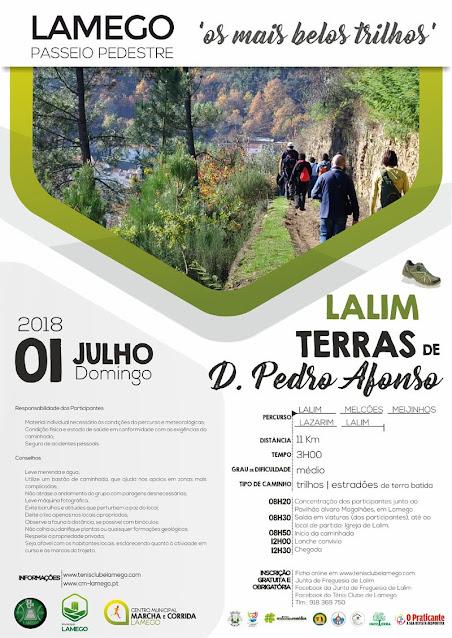 "Passeio Pedestre - Lalim - ""Terras de D. Pedro Afonso"" - Lamego - 1 de Julho de 2018"