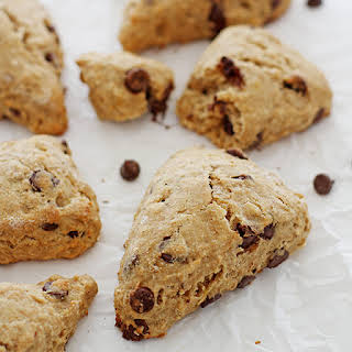 Whole Wheat Chocolate Chip Banana Scones.