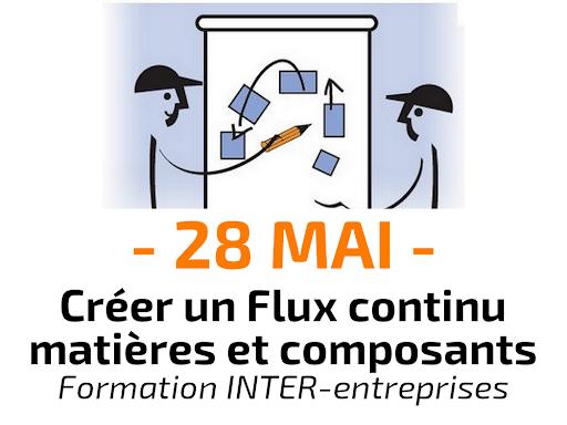 Créer un Flux continu matières et composants - Formation inter-entreprises