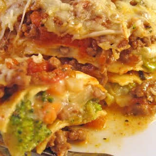 Beef and Broccoli Lasagne.