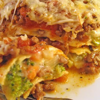 Beef and Broccoli Lasagne.