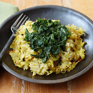 Garlic Hash Browns with Kale.