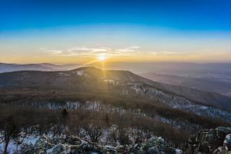 Photo: Sunset over Shenandoah National Park, Virginia
