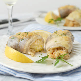 Crab and Shrimp Stuffed Trout Fillets.