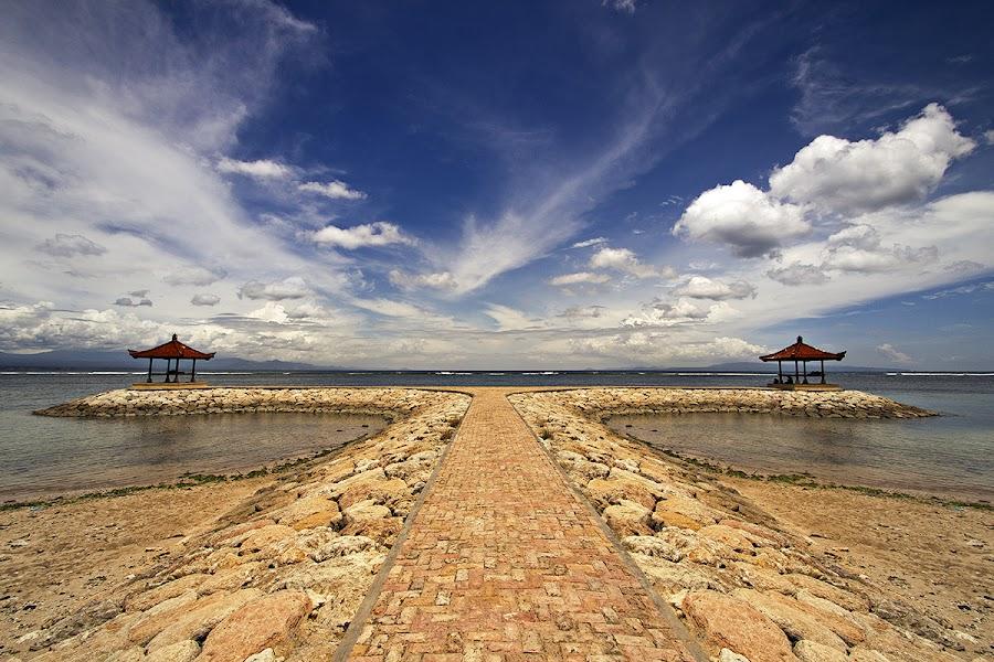 Twin by Teguh Zulkarnain - Landscapes Beaches ( sky, waterscape, cloud, beach, landscape )