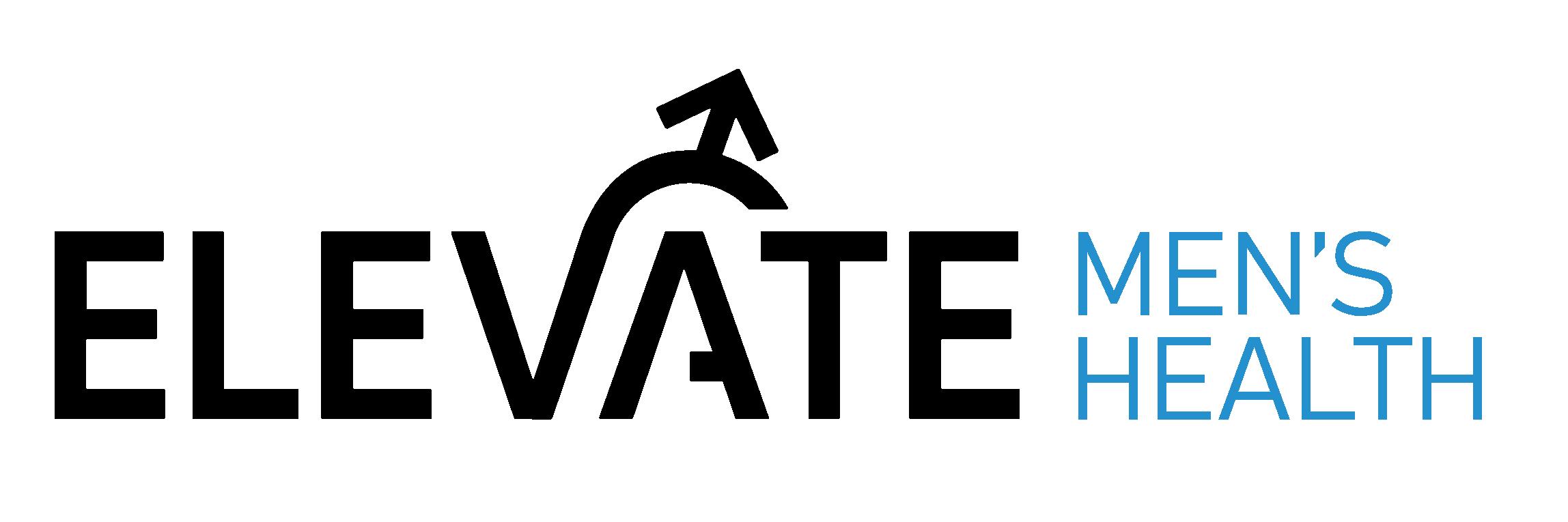 elevate mens health logo black cyan