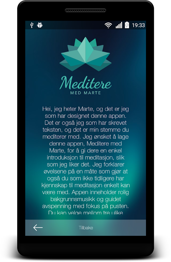 Meditere med Marte- screenshot