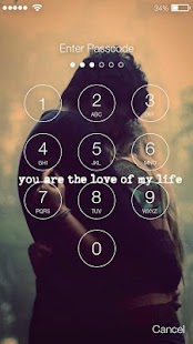 Love Quotos Screen Lock - náhled