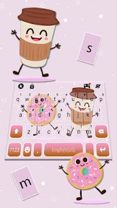 Coffee And Donut Keyboard Theme 2