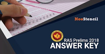 RAS Prelims 2020 Answer Key & Cut off