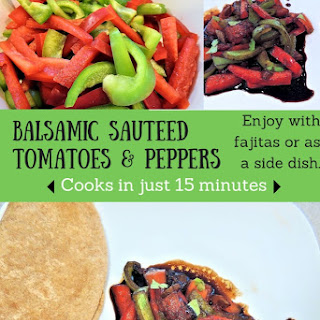 Balsamic Sauteed Tomatoes and Peppers