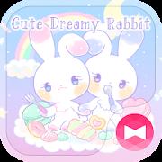 خلفيات وأيقونات Cute Dreamy Rabbit